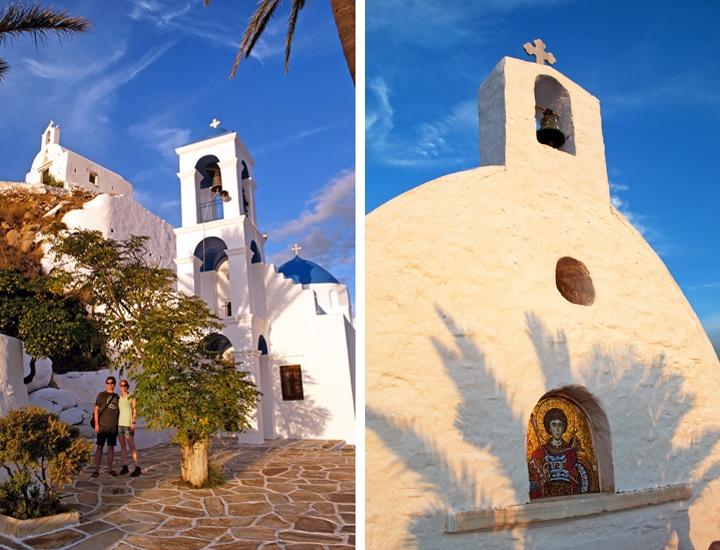 Sunset churches in Ios Greece