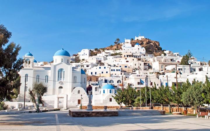 Chora in Ios, Greece