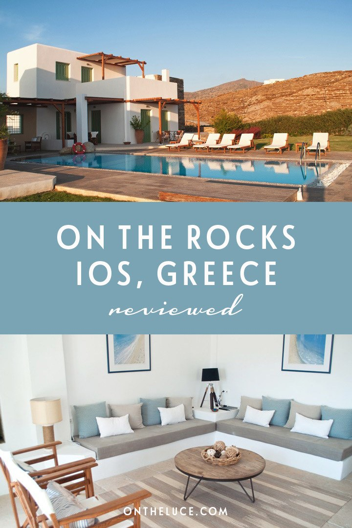 A luxurious stay at On the Rocks villas on the Greek island of Ios, where eco-friendly facilities meet stunning views and stylish design. #Greece #villa #Ios