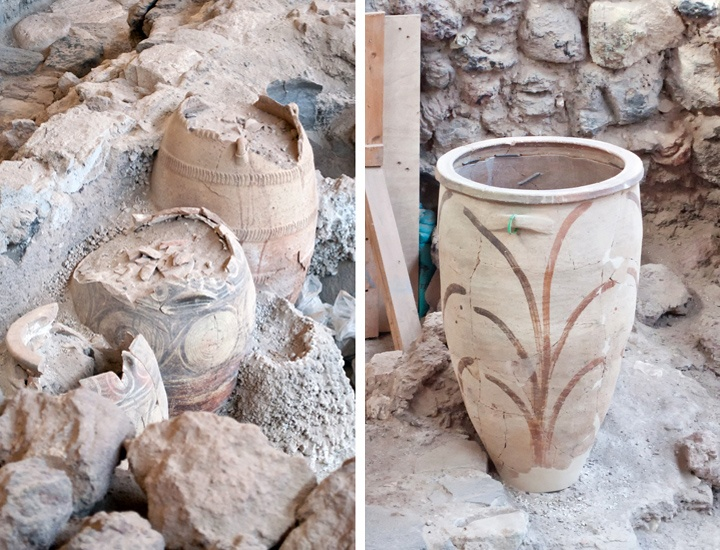 Pots at Akrotiri
