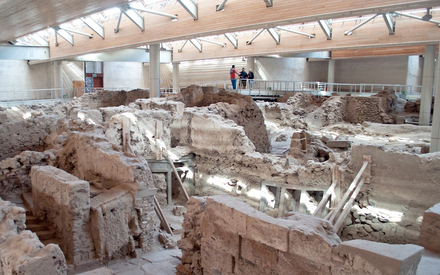 The ruined ancient city of Akrotiri