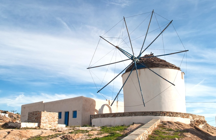 Chora windmill, Ios Greece