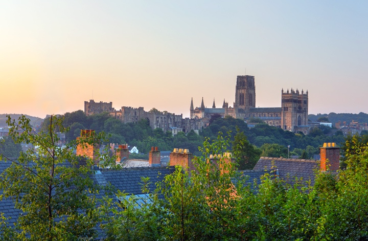 Durham cathedral and Bishop's Palace