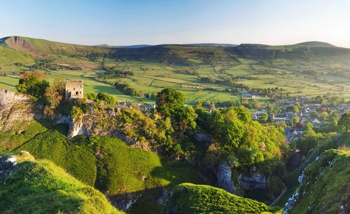 Peveril Castle in the Peak District