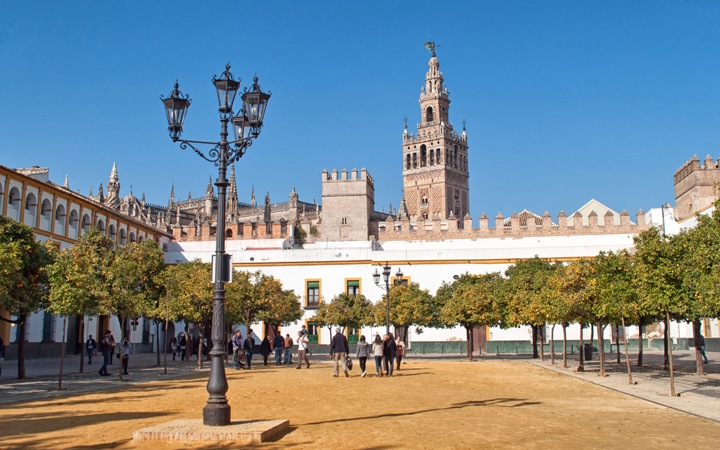 Winter in Seville, Spain