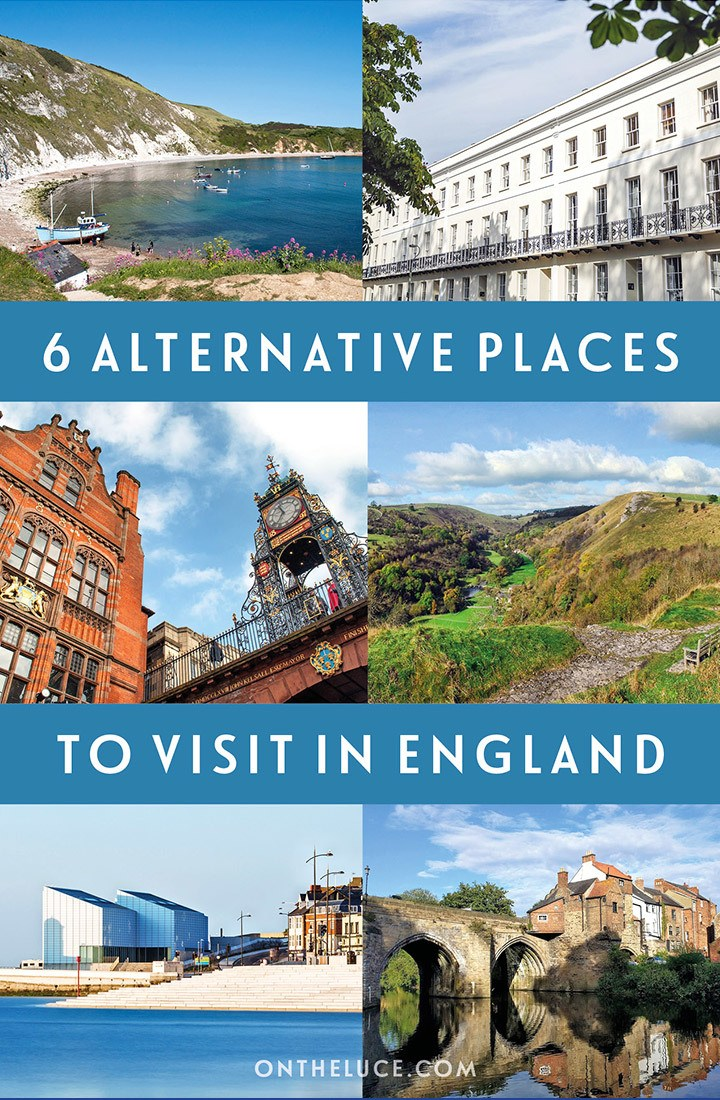England off the beaten track: 6 great alternative places to visit in England if you've seen the famous sights or are looking for something different, including Dorset, Cheltenham and Margae #england #uk #alternative