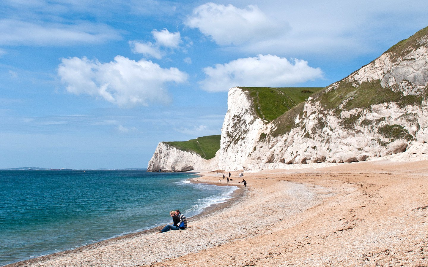 Beach at Durdle Door in Dorset – one of the six alternative places to visit in England