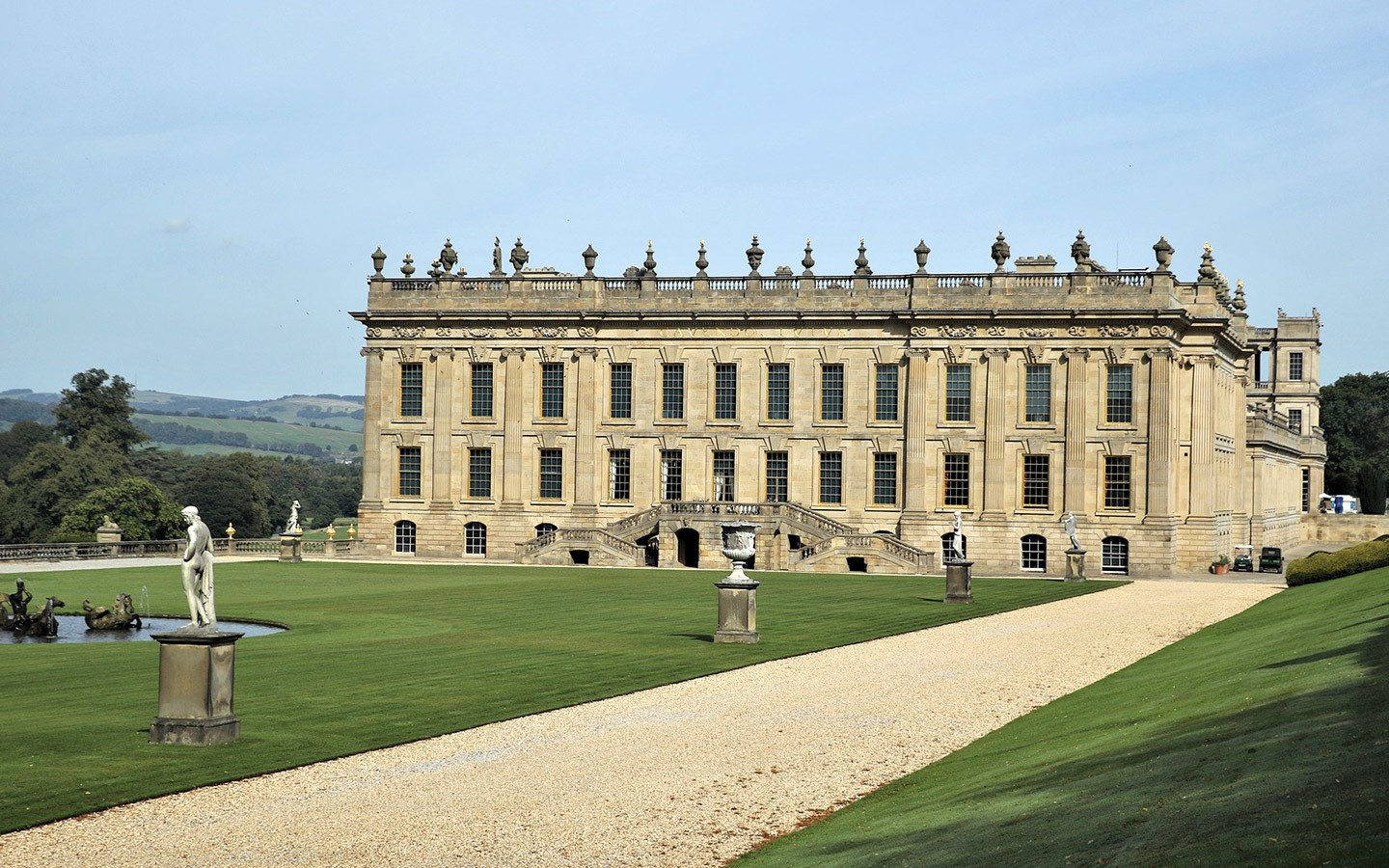 Chatsworth country house in the Peak District