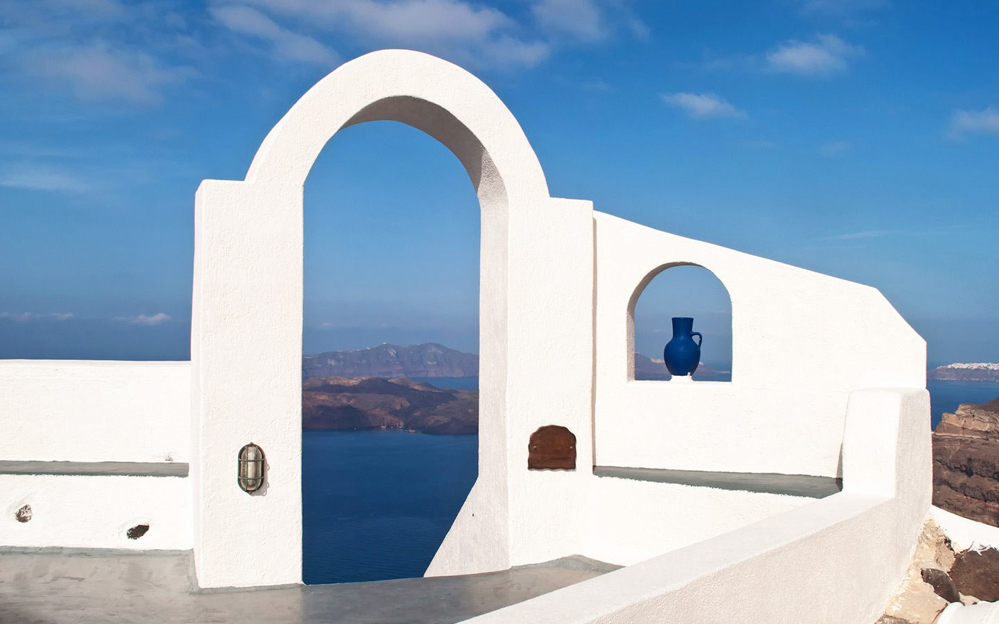 Spectacular views from Fira Santorini, Greece