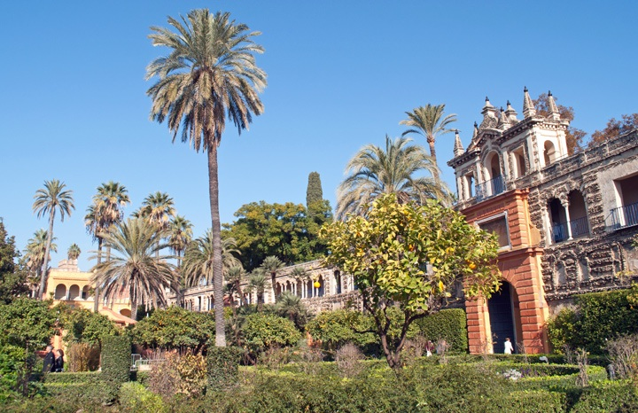 Gardens at the Real Alcazar, Seville