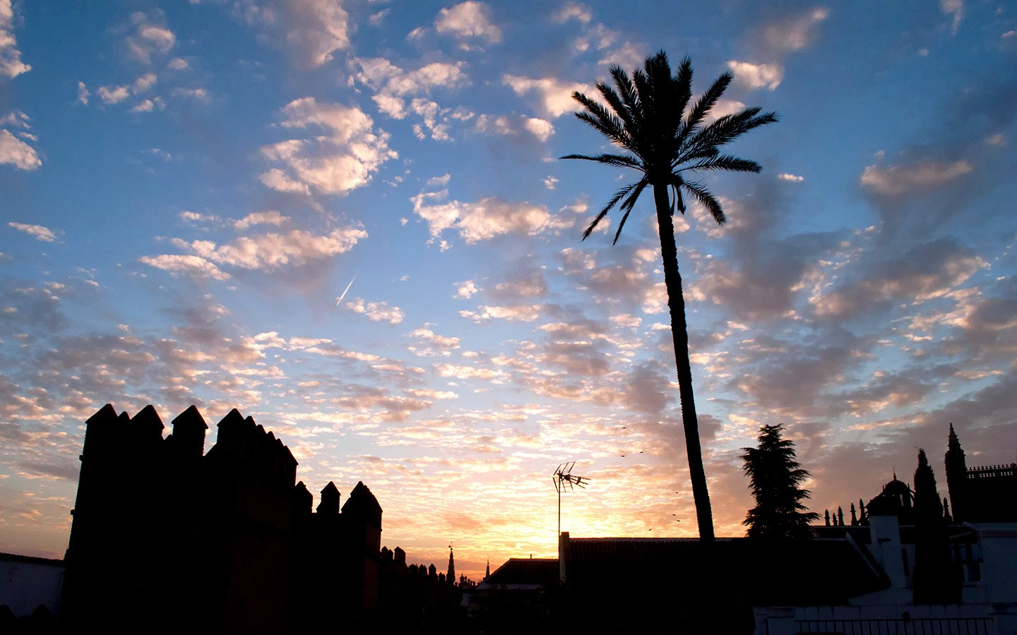 Sunset over the roof of the Alcazar