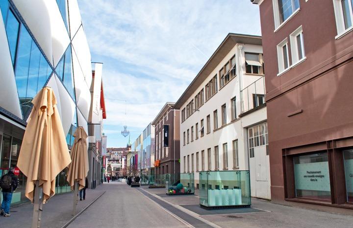 The Flon district in Lausanne