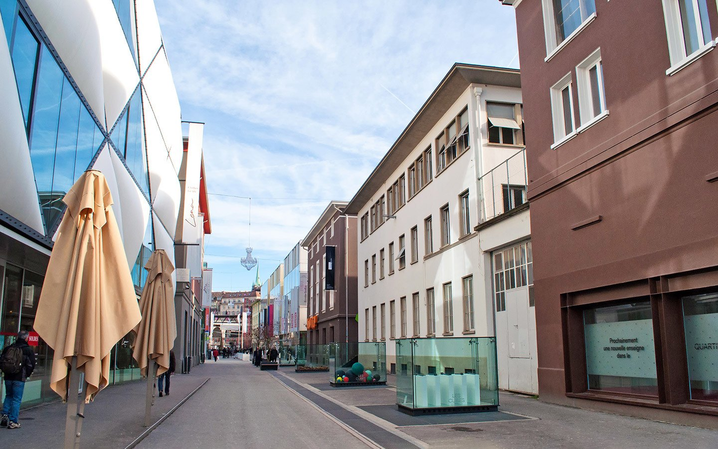 Bars and galleries in the Flon district of Lausanne