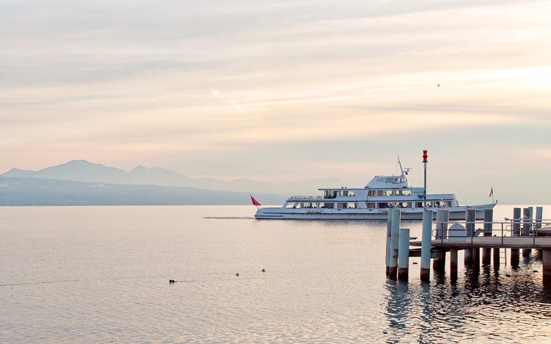 A boat trip on Lac Leman/Lake Geneva in Switzerland