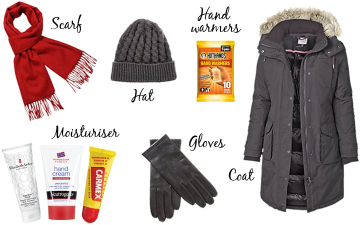 Carry on packing list for a winter city break