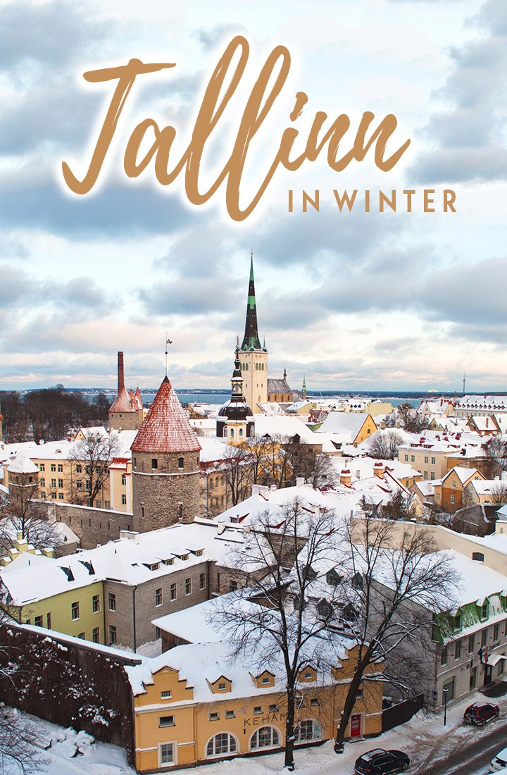 Exploring the Old Town of Tallinn, Estonia, in winter, when its medieval houses and Gothic churches are given a magical touch by a covering of snow. #Tallinn #Estonia