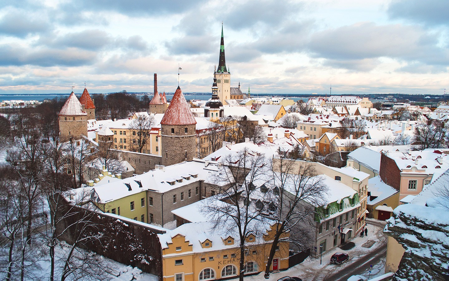 Views over Tallinn on a winter weekend break