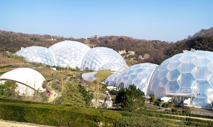 Eden Project biomes in Cornwall