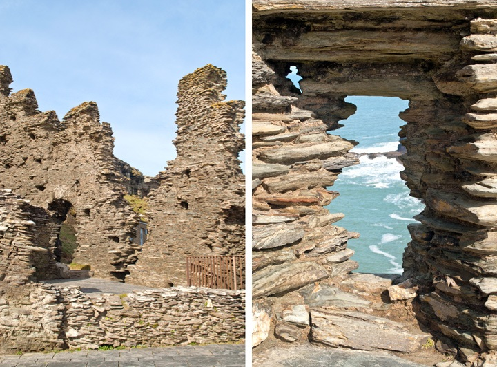 The Great Hall at Tintagel Castle