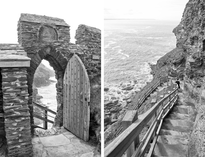 The entrance to Tintagel Castle