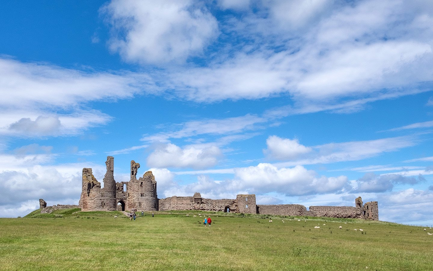 Dunstanburgh Castle in Northumberland