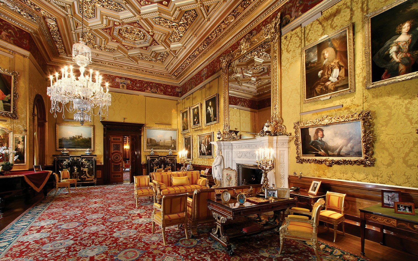 Interior of Alwick Castle in Northumberland