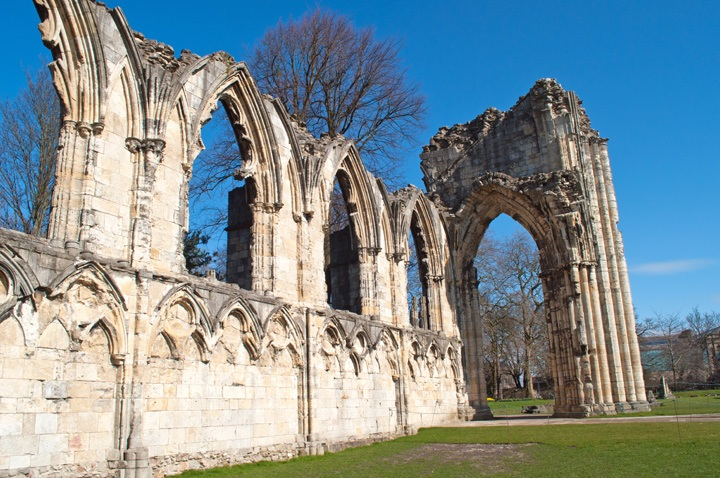 The remains of York's Abbey