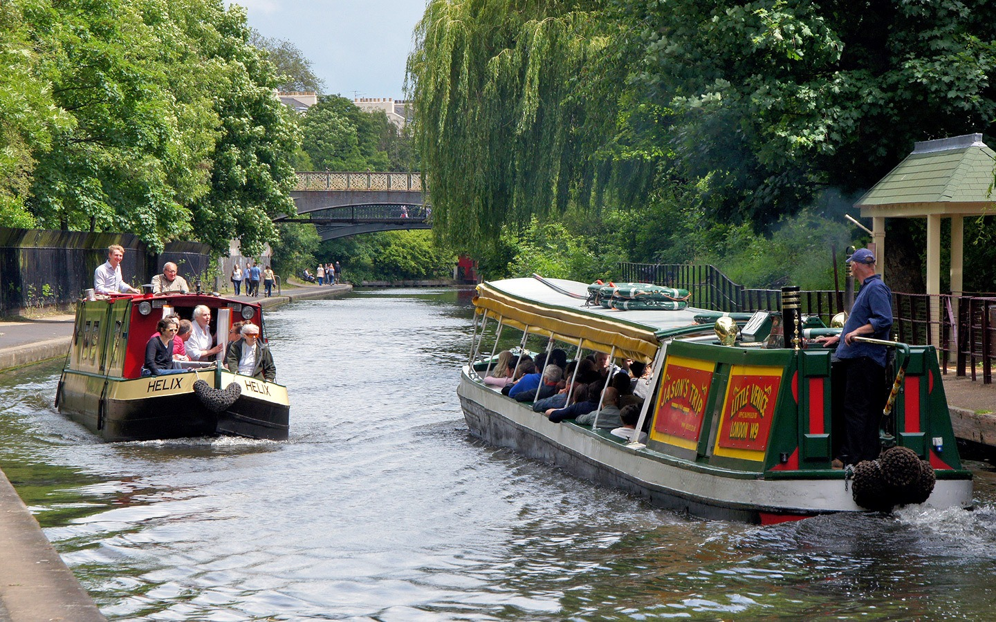 Boat trip on Regent's Canal London