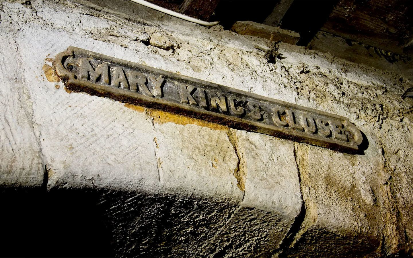 Sign for Edinburgh's Real Mary King's Close