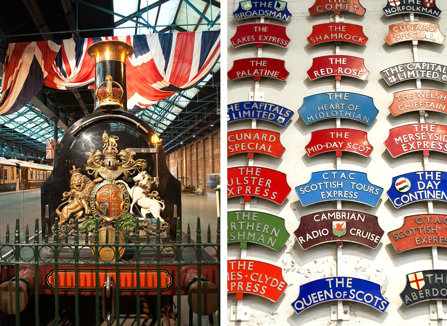 York's National Railway Museum, steam trains and railway badges