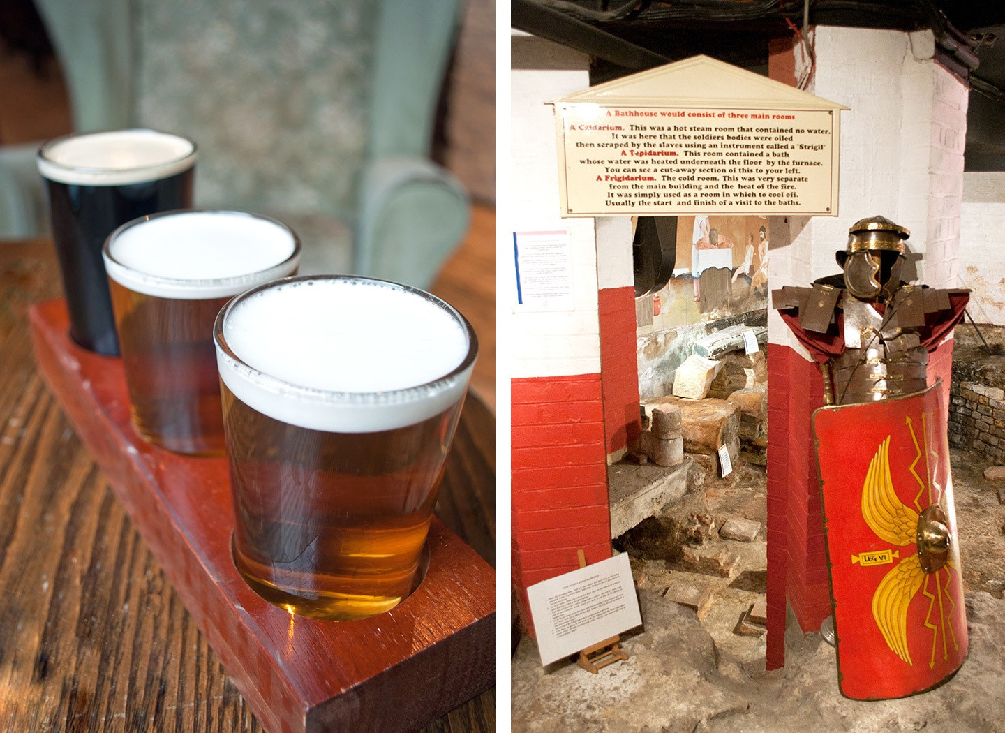 York Brewery beer tasting and the Roman baths in a pub basement
