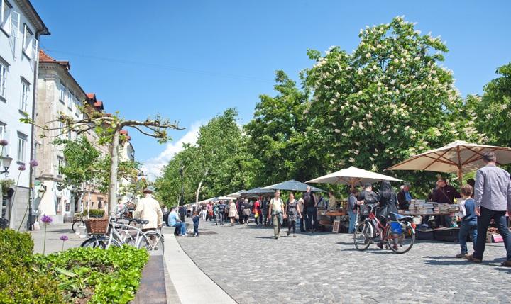 Ljubljana riverside market