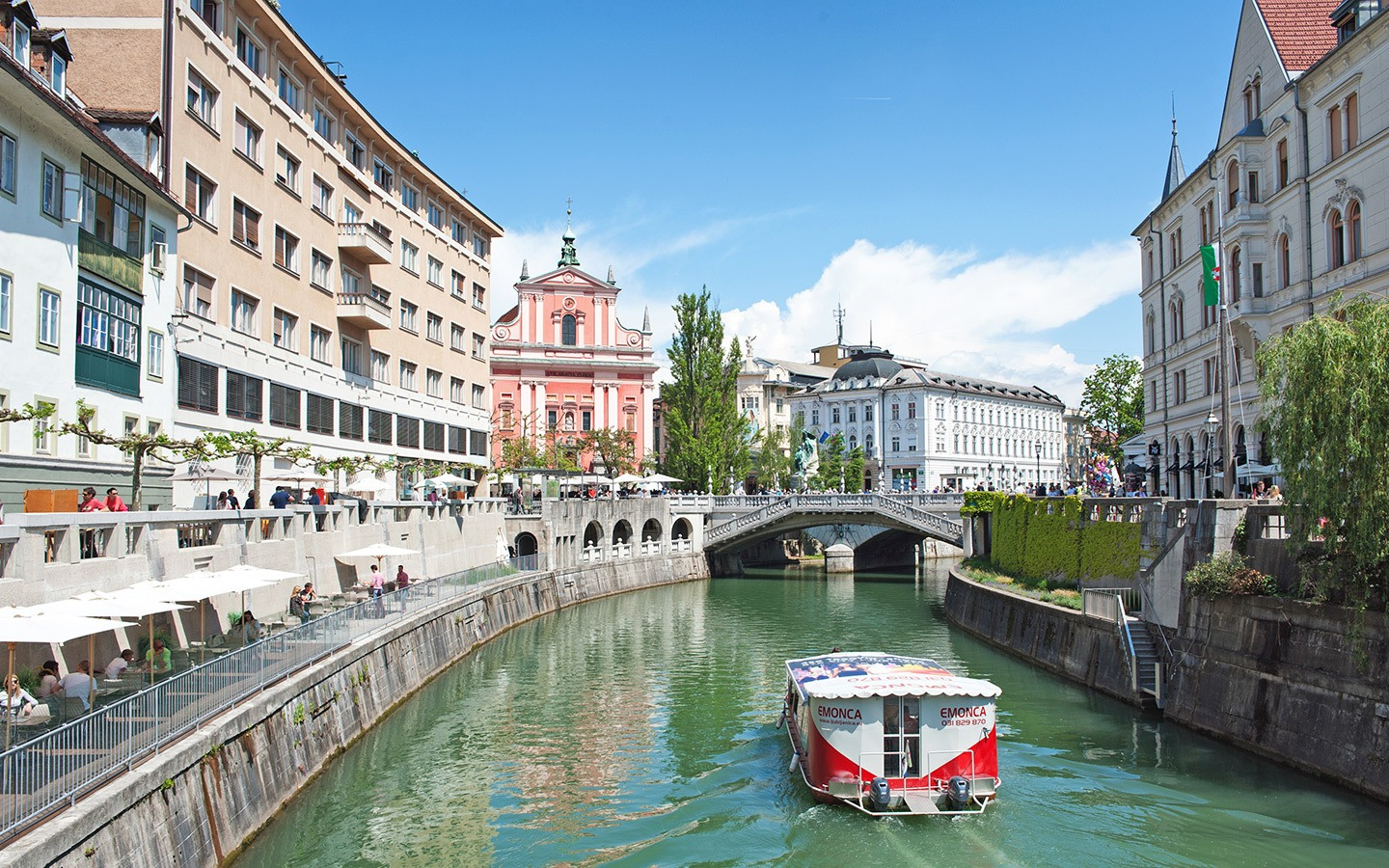 The River Ljubljanica in Ljubljana