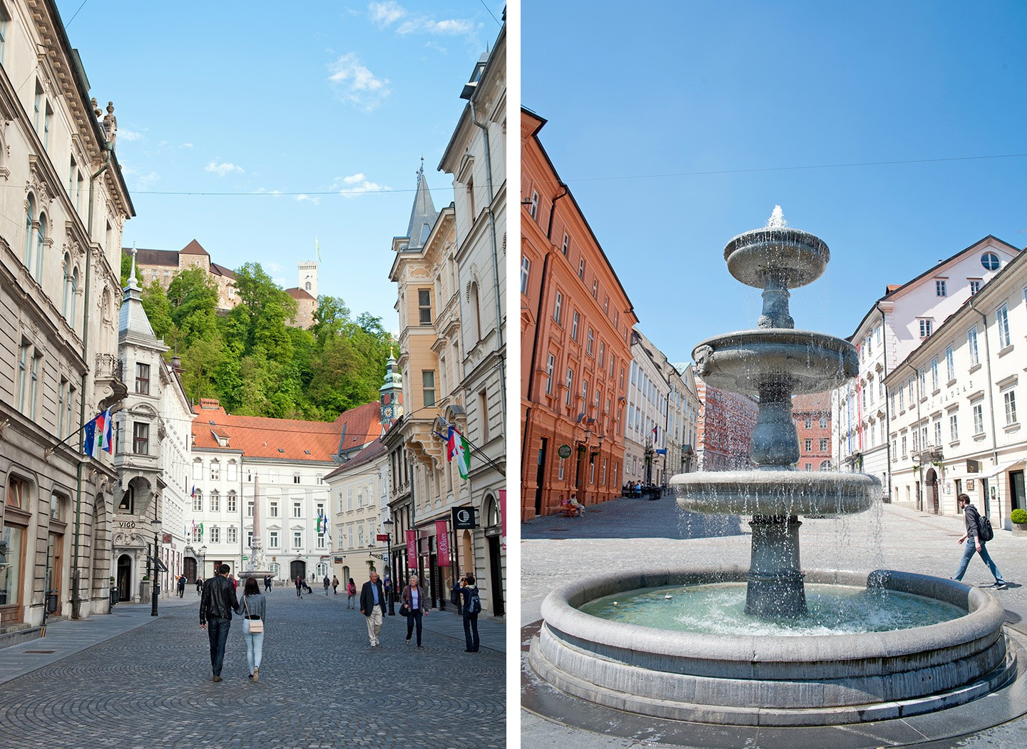 The historic centre of Ljubljana, Slovenia