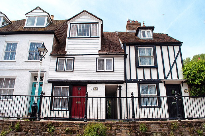 Wooden-fronted houses in Hastings