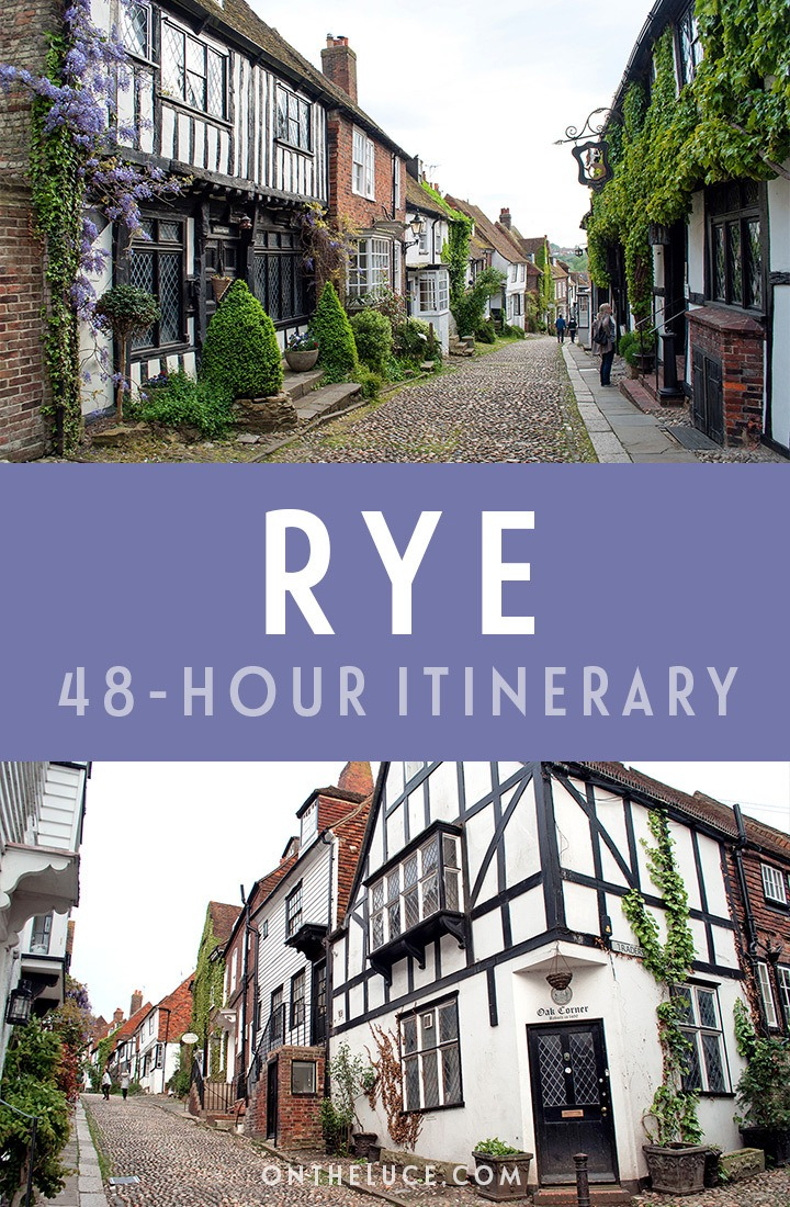 A guide to spending a weekend in Rye, East Sussex, with tips on what to see, do, eat and drink in this a 48-hour itinerary, including cobbled streets, castles, battlefields and more. #Rye #Sussex #EastSussex #VisitEngland #weekend #weekendbreak