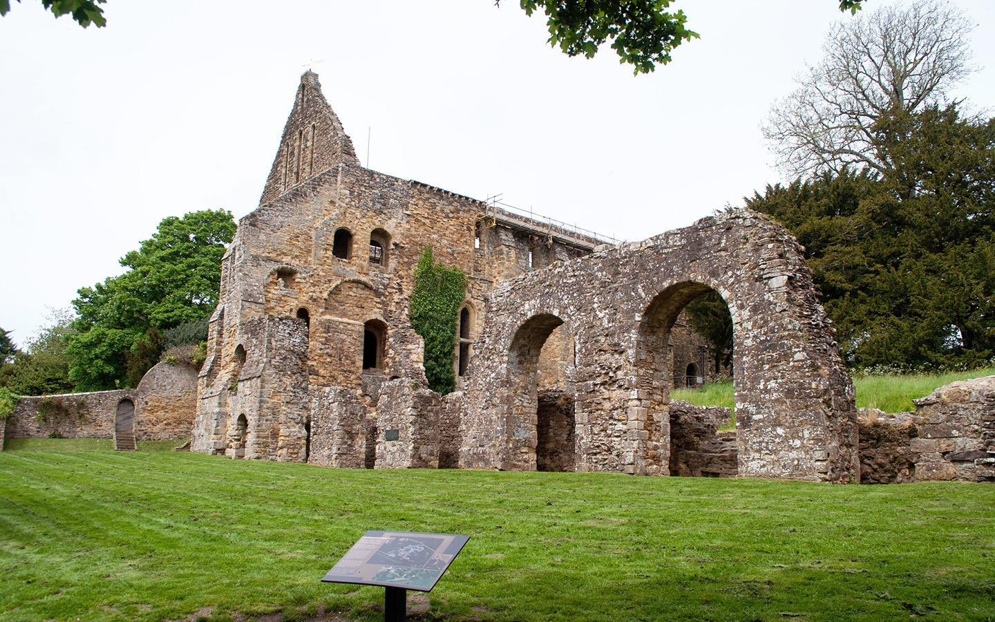 The ruins of Battle Abbey, Sussex