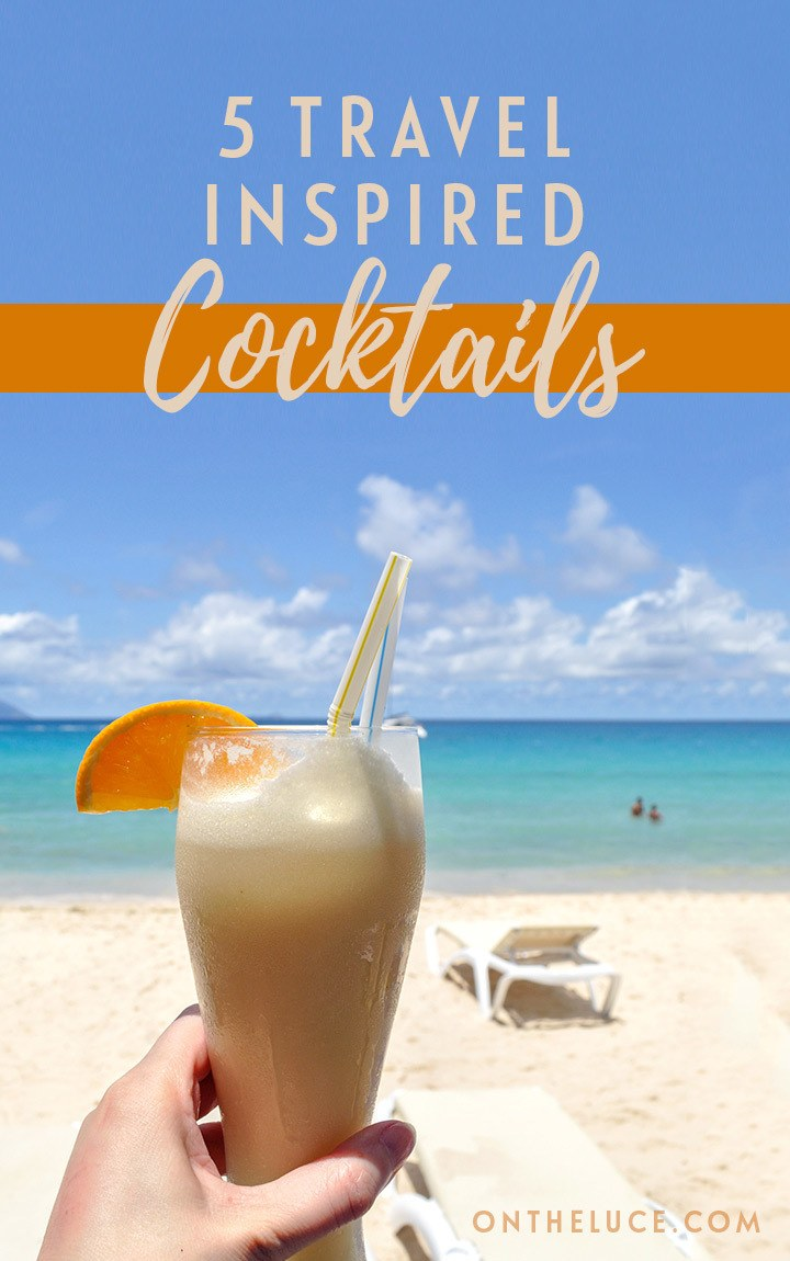 Five travel-inspired cocktails that transport me to another place around the world – from a Cosmopolitan in New York to a White Russian in Reykjavik. #cocktails