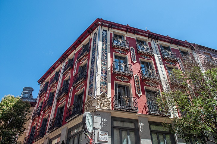 Balconies in Madrid