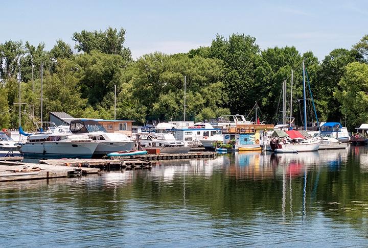 Toronto Islands boats