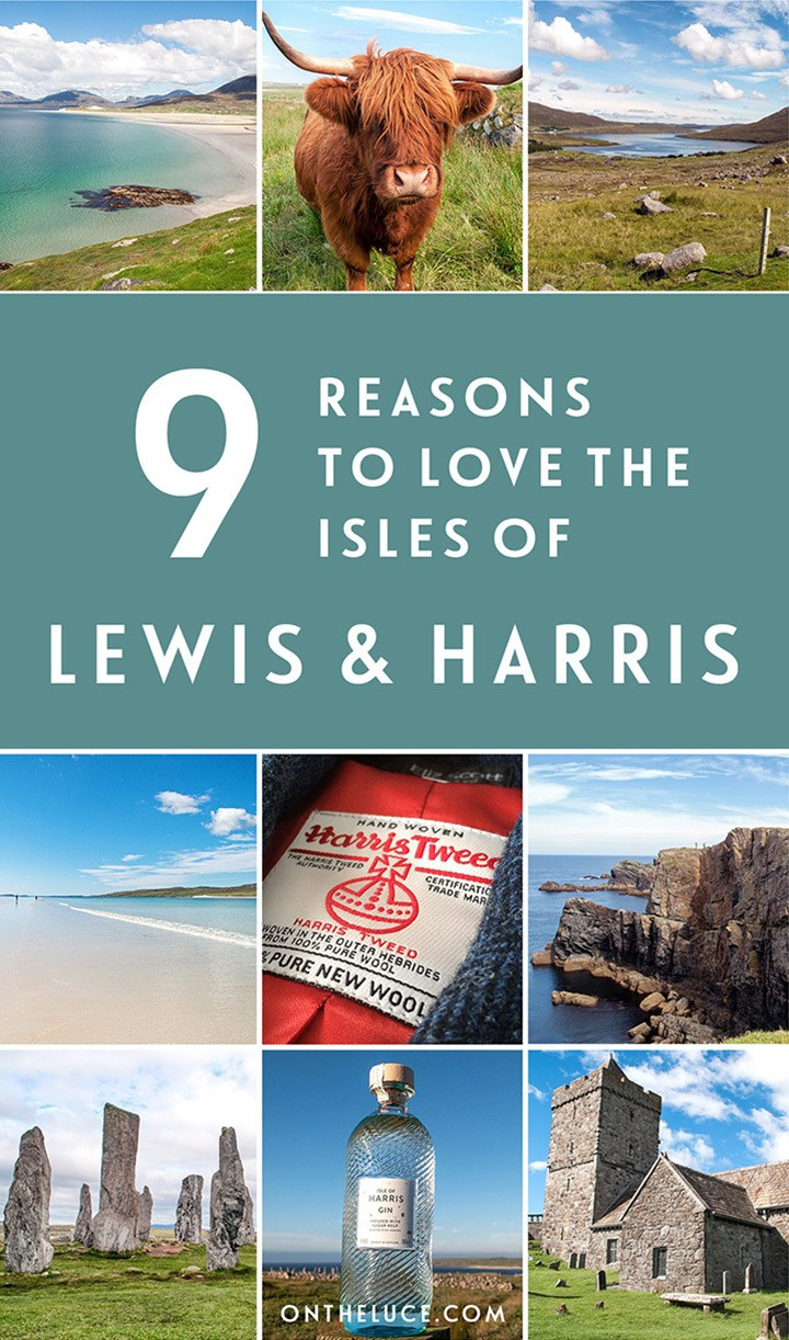 Nine reasons to visit the Isle of Lewis and Harris in Scotland's Outer Hebrides – from stunning beaches and diverse countryside to great food and unique culture. #Scotland #OuterHebrides