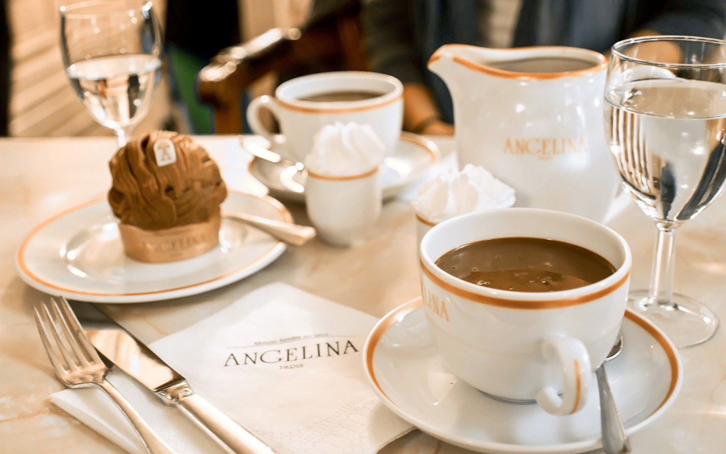 Delicious hot chocolate at Angelina in Paris