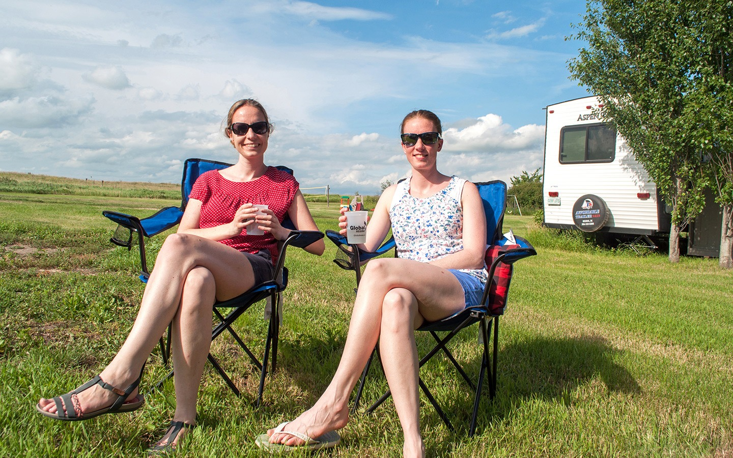 Celebrating Canada Day on RV site