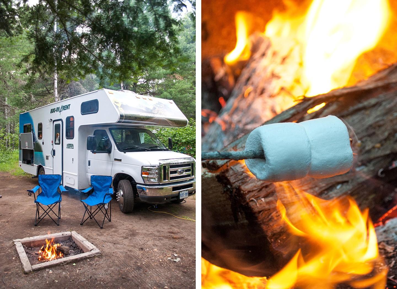 RV camspite campfire