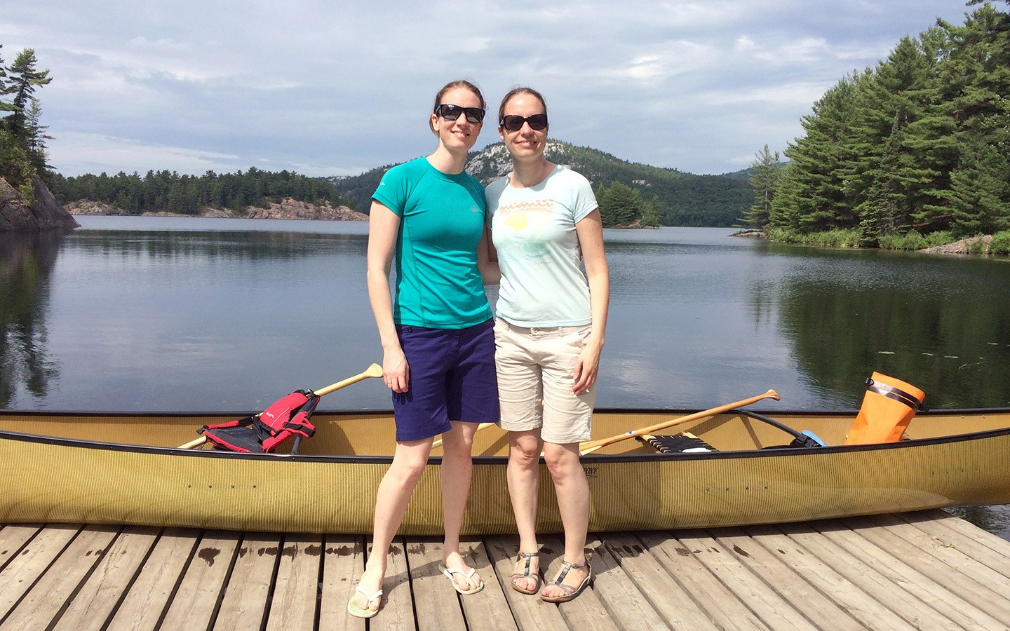 Kayaking at Killarney Provincial Park