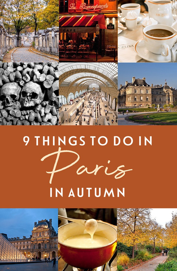 Nine things not to miss in Paris in autumn, the best of visiting Paris in the fall, including park walks, exhibition openings, spooky underground graveyards, hot chocolate and quirky harvest festivals | Autumn in Paris | Fall in Paris | Paris in September | Paris in October | Paris in November