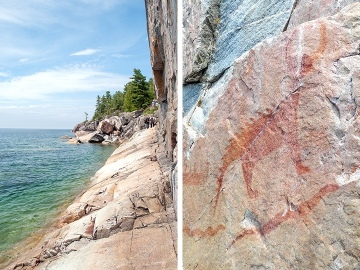 Agawa Rock Pictographs, Lake Superior, Ontario