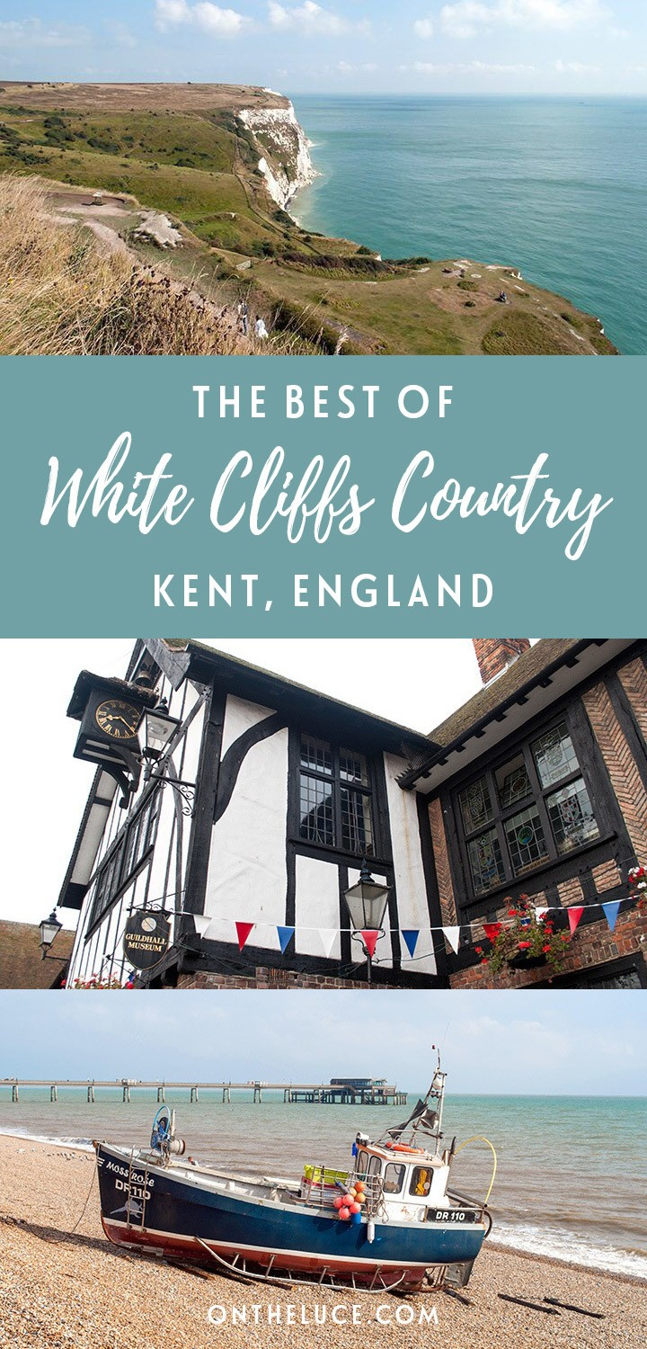 A road trip through White Cliffs Country in Kent, Southern England – visiting castles, cliffs and cake shops in the towns of Sandwich, Deal and Dover #England #Kent