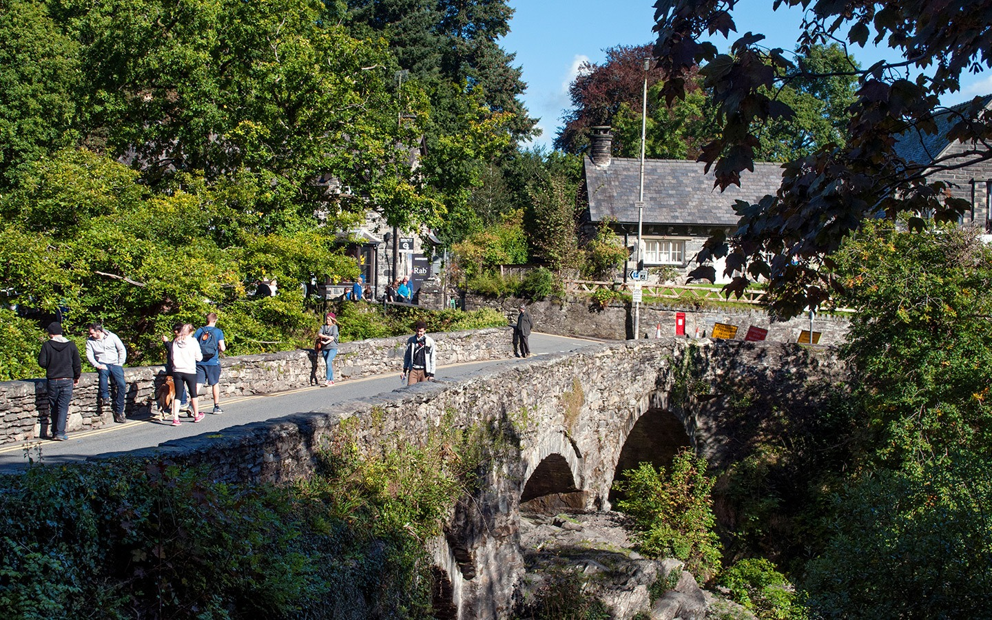 The Miner's Bridge in Snowdonia's Betws-y-Coed