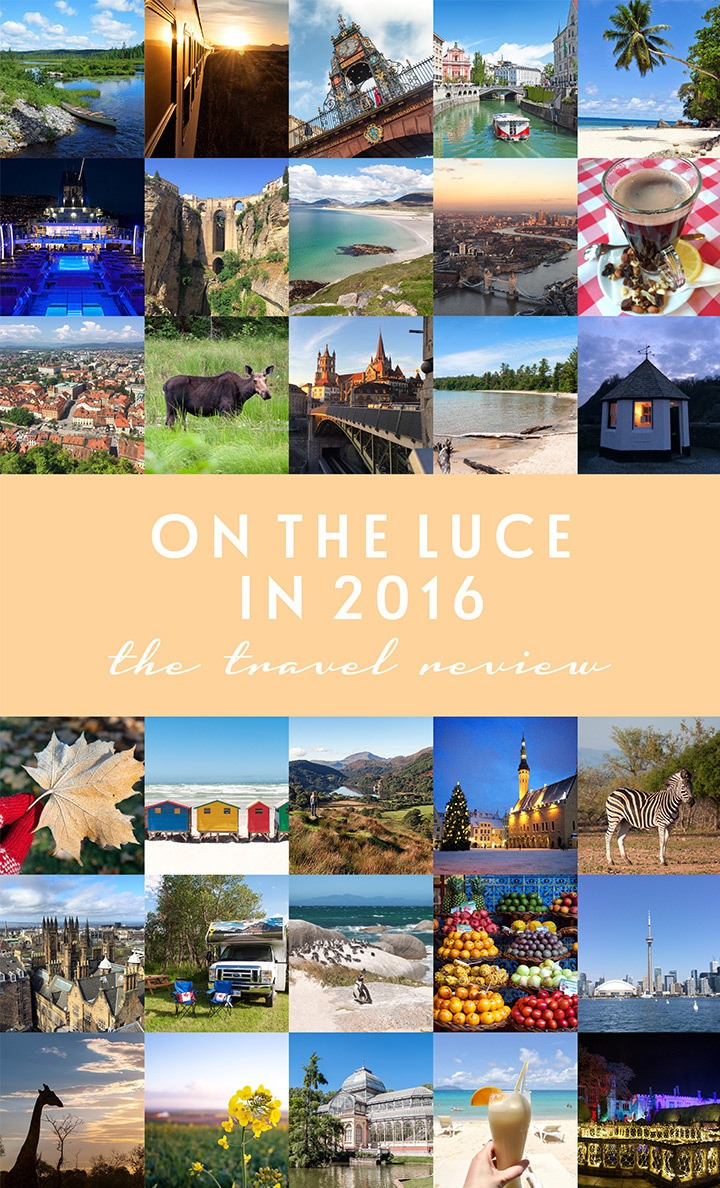 Travel highlights On the Luce in 2016, including crossing Canada by RV, beach-hopping around the Seychelles, wildlife spotting in South Africa and much more